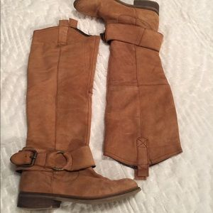 Genuine Leather Chestnut Boots - size 7